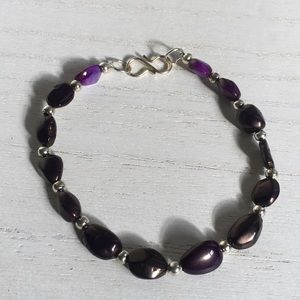 Jewelry - Purple genuine Opal gemstone bracelet